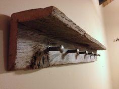 """40"""" Barnwood Coat Rack and Shelf"""