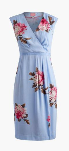 Womens Woven Wrap Dress, Sky Blue Peony I have no idea where I would wear this but I love it!!!