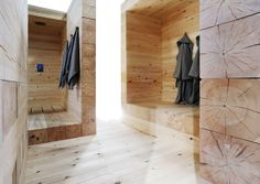 Wood sauna by Avanto architects in Helsinki