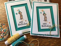 Cute little meerkats bringing birthday wishes Kids Birthday Cards, Handmade Birthday Cards, Greeting Cards Handmade, Birthday Wishes, Happpy Birthday, Umbrella Cards, Embossed Cards, Stamping Up Cards, Animal Cards