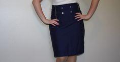 Sew Pretty Sew Free: Military Skirt Sewing Tutorial