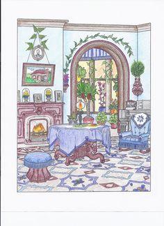 Blue parlor