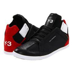 adidas Y-3 by Yohji Yamamoto Kazuhiri High Top Sneaker Men's Lace up casual Shoes - Black Y-3/LgtScarlet/Rwht Ftw