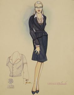 Elle Broadway costume sketch