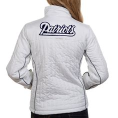 White Quilted Zip Jacket $84.95