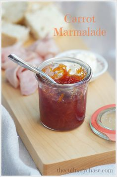 carrot marmalade by The Culinary Chase - ridiculously easy to make! Carrot Jam Recipe, Marmalade Recipe, Carrot Recipes, Jam Recipes, Drink Recipes, Jelly Recipes, Canning Recipes, Eating Carrots, Sweets