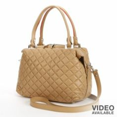 PAVA Quilted Soft Leather Convertible Satchel