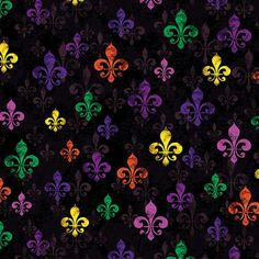 #BourbonStreet #FleurdeLis #MardiGrasFabric #6553-12 - only $8.99/yard!  http://lisasstitchingpost.com/product_info.php?products_id=1296