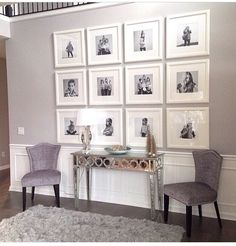 Stunning living room wall gallery design ideas 18 Large house, but how wide? My New Room, Frames On Wall, White Frames, Wall Collage, Wall Art, Wall Picture Frames, Collage Photo, Art Walls, Diy Wall