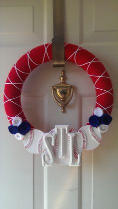 St.L baseball wreath DIY