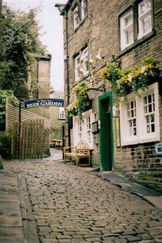| ? |  Beer Garden entry - Haworth village  | by © emilyharriet...