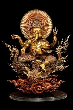 Ganesha Painting, Buddha Painting, Ganesha Art, Lord Ganesha, Shri Ganesh Images, Ganesh Chaturthi Images, Thai Buddha Statue, Buddha Art, Thai Art