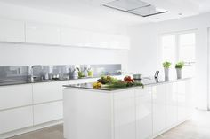 cuisine blanche laquee moderne