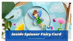 Inside Spinner Fairy Card (Simon Says Stamp) Spinner Card, Card Tutorials, Video Tutorials, Slider Cards, Interactive Cards, School Themes, Simon Says Stamp, Making Ideas, Fairy Tales