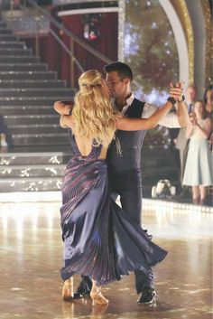 James Maslow and Peta Murgatroyd dance the Foxtrot on week 1 of ABC's 'Dancing With The Stars' on March 17, 2014. They received 21 out of 30 points from the judges.