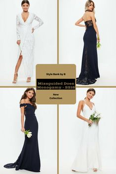 Getting hitched soon or need a bridesmaid dress? 💍💎👰 Then check out Missguided Does Monogamy - SS18 collection here - http://www.stylebankbyb.com/fashion/new-collection-missguided-does-monogamy-ss18