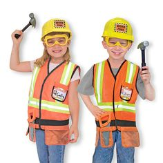 Melissa & Doug Construction Worker Costume for Role Play/ Fancy Dress Kids 14837 Full Body Costumes, Boy Costumes, Construction Worker Fancy Dress, Roald Dahl Fancy Dress, Caterpillar Costume, Fancy Dress Outfits, Dress Clothes, Fancy Dress For Kids, Melissa & Doug