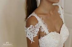 Detachable Sleeves 60 Bridal Straps  by PTBridalHandMade on Etsy
