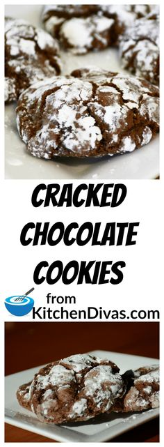 Cracked Chocolate Cookies are so good. My grandmother and I used to each keep a…