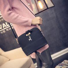 Women Messenger Bags Fashion Mini Bag With Deer Toy Shell Shape Bag Women Shoulder Bags