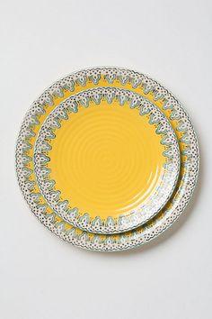 Minaret Dinnerware #anthropologie Didn't need it, but i love it! I got 1 set of this to add to my collection!