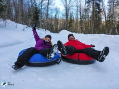 We're snowtubing loving it. A guaranteed way to feel like kids again. This so many more fun winter activities at Explorers' Edge in Muskoka, Ontario. Outside Activities, Fun Winter Activities, Outdoor Activities, Lake Tahoe Winter, Stuff To Do, Things To Do, Ontario Parks, Algonquin Park, Winter Travel