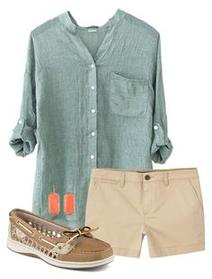 """🐘"" by alliquick ❤ liked on Polyvore featuring MANGO, Sperry and Kendra Scott"