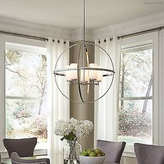 Alturas Chandelier by Sea Gull Lighting at Dining Room Lighting, Kitchen Lighting, Dining Room Light Fixtures, Farmhouse Lighting, Rustic Chandelier, Chandeliers, Pendant Light Fixtures, Pendant Lights, Dining Room Design
