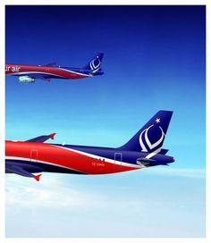 Logo and aircraft livery design concept for Onur Air Logo Branding, Brand Identity, Logos, Onur Air, Airplane, Aviation, Aircraft, Concept, Design