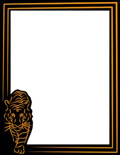 A tiger page border. Free downloads at http://pageborders.org/download/tiger-border/