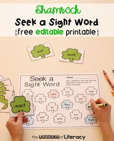 Bring some fun to your literacy centers this month with this Editable St. Patrick's Day Sight Word Game! Choose the words you want your students to work on with this fun game that is perfect for Kindergarten and 1st grade literacy centers this March! #sightwords #iteachtoo #teachersfollowteachers