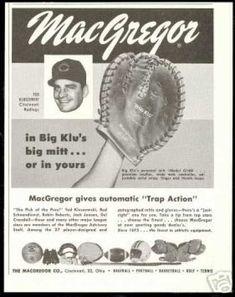 Ted Big KLU Kluzewski MacGregor Baseball Glove