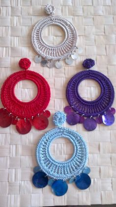 Cositas: Flamenca - orecchini crochet - crochet earrings