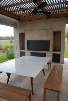 Arquitectura - Paisajismo - Ricardo Pereyra Iraola - Buenos Aires - Argentina Parrilla Interior, Gazebo On Deck, Outdoor Kitchen Design, Barbecue Grill, Exterior Design, Beautiful Homes, Sweet Home, New Homes, House Design