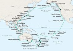 a round the world cruise....not this one in particular, any one will do!