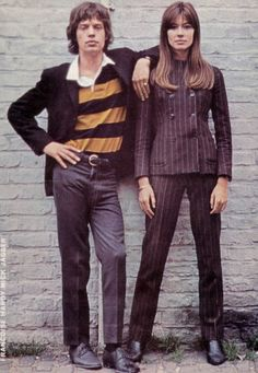 Mick Jagger and Francoise Hardy.
