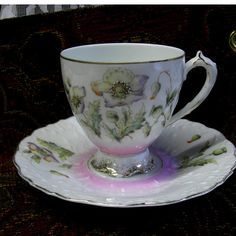 Antique Cup and Saucer Sweet Vintage Pink
