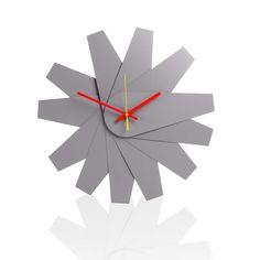 Klickity Fanfare Wall Clock Grey