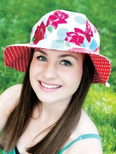 Reversible Sun Hat for Women Sewing Pattern Download from e-PatternsCentral.com -- Sew a practical and beautiful sun hat, no seam finishing needed! Protect yourself from the sun's harmful rays while enjoying the great outdoors.