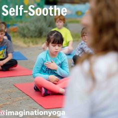 Kids yoga for SELF SOOTHING Changes in routine and heightened expectations are part of every child's everyday life. It requires them to be able to self-regulate their emotions some times. Yoga teaches them how to self-soothe through calming techniques. Yoga For Kids, Exercise For Kids, Mindfulness For Kids, Teaching Mindfulness, Mindfulness Activities, Family Yoga, Childrens Yoga, Yoga Benefits, Coping Skills