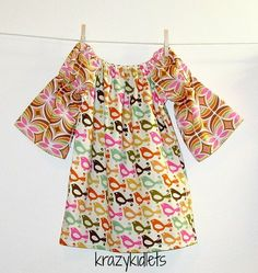 size 2t long sleeve peasant dress with bell sleeves