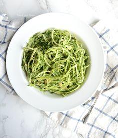 Forgaging for Wild Stinging Nettle Pesto over Paleo Pasta - vegan- low carb - recipe