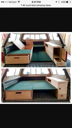 truck bed sleeping platform design - Page 3 Truck Cap Camping, Pickup Camping, Minivan Camping, Tent Camping, Truck Canopy, Truck Tent, Truck Bed Camper, Bed Tent, Truck Topper Camper