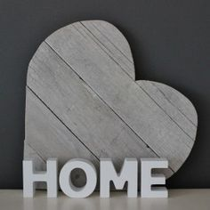 "Woord ""HOME"" Hout Wit 