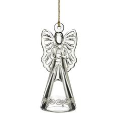 Marquis by Waterford glass 2015 annual bell. This years bell is a charming angel to grace your tree or set atop your table. Perfect for passing down for generations. Gold cord hanger with tassle and gift boxed.