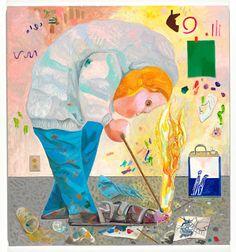 """ART BLOG ART BLOG: """"SHOE FIRE"""" 2010, Dana Schutz"""