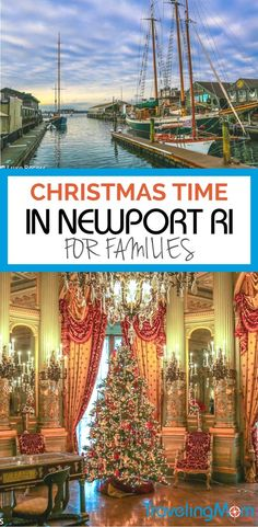Newport offers a wintertime experience that's perfect for families to celebrate the season. Christmas in Newport, Rhode Island lasts all December. Family Vacation Destinations, Vacation Ideas, Vacation Packing, Family Vacations, Family Travel, Travel Destinations, Island Holidays, Newport Rhode Island, New England Travel