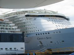 Oasis of the Seas alongside Celebrity Millennium, user submitted