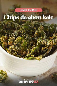 Une idée de chips originale pour l'apéritif avec du chou kale. #recette#cuisine#chip#chips #aperitif #chou #choukale #kale Green Beans, Vegetables, Food, Drizzle Cake, Sprouts, Essen, Vegetable Recipes, Meals, Yemek