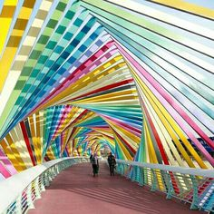 A rainbow 🌈 bridge in Qingdao, east China's coastal city. Collor, Qingdao, Rainbow Bridge, Coastal, Fair Grounds, Around The Worlds, Restaurant, China, Adventure